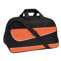 Oranje/zwarte sporttas/weekendtas 55 cm - Sporttassen