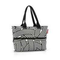 Reisenthel Shopper E1 Shopper Schoudertas - 12L - Zebra Zwart Wit