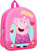 Nickelodeon rugzak Peppa Pig 3D 9 liter polyester roze