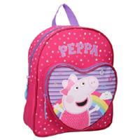Nickelodeon rugzak Peppa Pig hart 7 liter polyester roze/paars