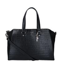 LouLou Essentiels Classy Croco laptoptas black