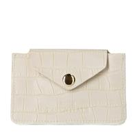 Sacha Off white portemonnee met crocoprint  - wit