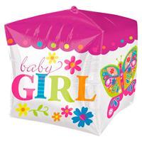 DeBallonnensite Cubez ballon Baby Girl