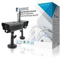 König 2,4 GHz Draadloze Camera Buiten VGA Zwart