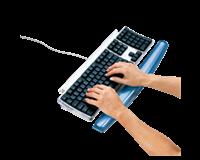 Polssteun toetsenbord  Crystals gel transparant blauw