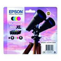 Inktcartridge  502XL T02W6 zwart + 3 kleuren HC