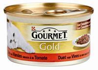 Gold Les Cassolettes Duo van vlees in tomatensaus 1 tray (24 blikken)