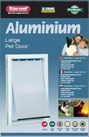 hondenluik tot 45 kg aluminium wit