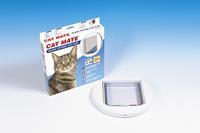 210 Kattenluik Wit (Glas/Dunne deuren) Kattenluik
