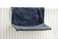 Sleepy - Radiatorhangmat - Pluche - Blauw - 46x31x24CM