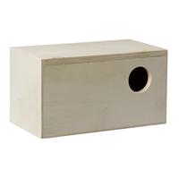 Pet products houten broedkastje, recht model