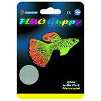 superfish Fluo Guppy - Aquarium - Ornament - Groen Oranje