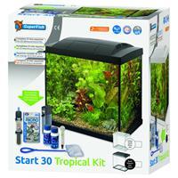 Aquarium Start 30 Tropical Kit Retro Led 30 l - Aquaria - Zwart