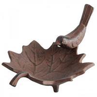 Esschert Design Vogelbad gietijzervogel op blad