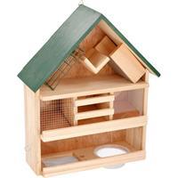 Vogelvoederhuis / vogelhuisje 44 x 39 x 13 cm Bruin