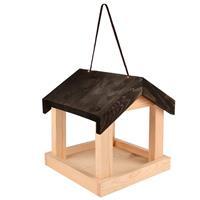 esschertdesign Esschert Design hangend houten voederhuis met zwart dak
