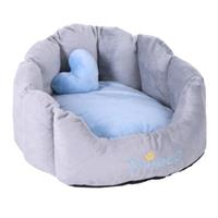 Hondenmand Prince Grijs / Lichtblauw L45xB40xH30cm