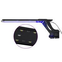 vidaXL Aquariumlamp met klem LED 35-55 cm blauw en wit