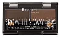 Rimmel London Wenkbrauwkit Dark Brown