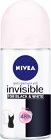Nivea Deoroller invisible black white