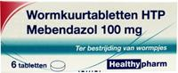Healthypharm Mebendazol Wormkuurtabletten 6st