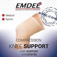 Emdee Elastische Ondersteuning Knie Huidkleurig Maat S