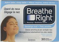 Breathe Right Neuspleisters - Gevoelige Huid 30 Stuks