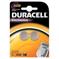 CR2016 Knoopcel Lithium 3 V 90 mAh Duracelll Elektro 2016 2 stuk(s)