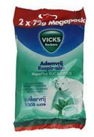 Vicks Ademvrij eucalyptus suikervrij pack 144 stuks