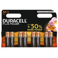 Duracelll Batterijen Plus Power, Alkaline, 8 x AA