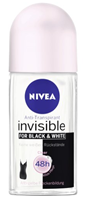 Nivea Invisible Deo Roller - Anti-transpirant Black & White 50ml