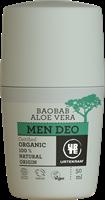 Urtekram Men Deoroller Baobab & Aloe Vera