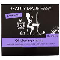Beauty Made Easy Oil Blotting Sheets Lavender