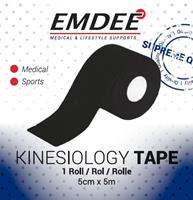 Emdee Kinesiology Tape Zwart Non Cut