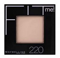 Maybelline Fit Me Matte and Poreless Powder 220 Natural Beige - Medium tot donkere huid, gele ondertoon.