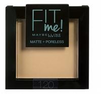 Maybelline Fit Me Matte and Poreless Powder 120 Classic Ivory - Medium huid, neutrale ondertoon.