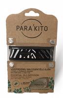 Parakito Anti-Muggen Armband Design Zwart