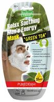 Purederm Gezichtsmasker relax soothing men's energy green tea 15ml