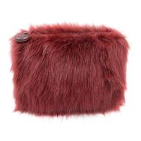 W7 Fluffy/Furry Make-up Tasje - Maroon
