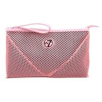 W7 Make-up/Toilettas - Large Mesh Bag Pink