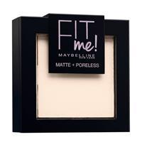 Maybelline Fit Me Matte and Poreless Powder 100 Warm Ivory - Lichte huid, gele ondertoon.
