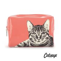 Catseye London Etching Cat Large Beauty Bag