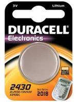 Batterij Duracelll knoopcel CR2430 lithium Ø24mm 3V-280mAh