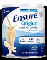 Abbottt Ensure Original Nutrition Powder Vanilla