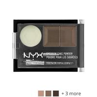 NYX Professional Makeup Eyebrow Cake Powder Auburn/Red - Matte red brown/matte brown with slight red tones.