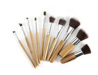 Glamza Bamboe Make-up Borstelset - 10 stuks