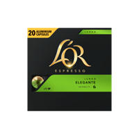 Douwe Egberts koffiecapsules L'Or Intensity 6, Lungo Elegante, pak van 20 capsules