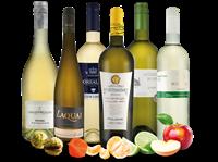 Verschiedene Probierpaket Weißwein-Selektion des Herbstes