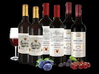 Verschiedene Weingenuss von kleinen Châteaux