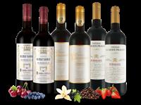 Verschiedene 3 TOP-Bordeaux-Weine im Vorteilspaket